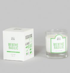 Mint Basil Scented Candle