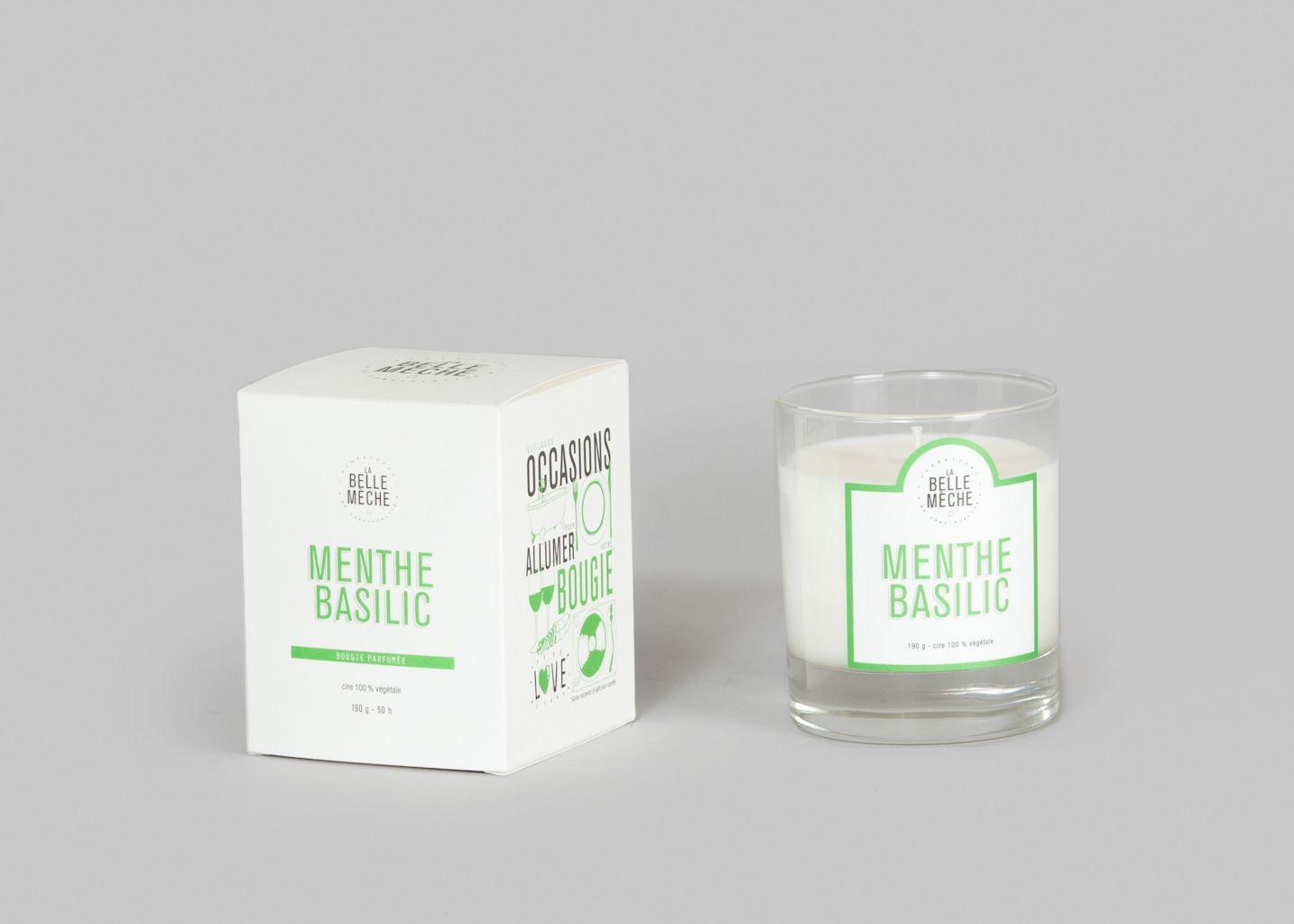 Bougie Menthe Basilic  - La Belle Mèche
