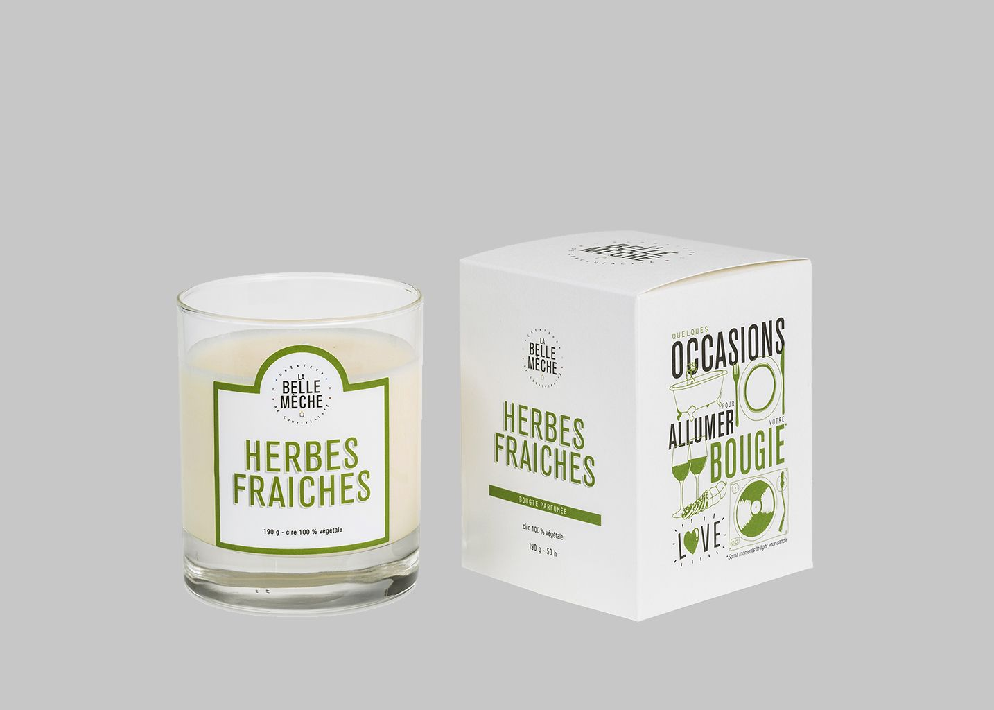 Fresh Herb Candle - La Belle Mèche