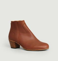 Full grain calf leather Gil boots