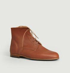 Full grain calf leather Albert boots