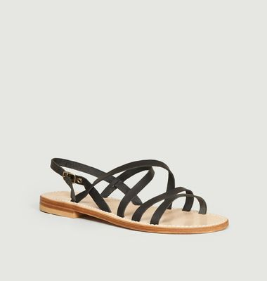 Bastille calfskin leather sandals