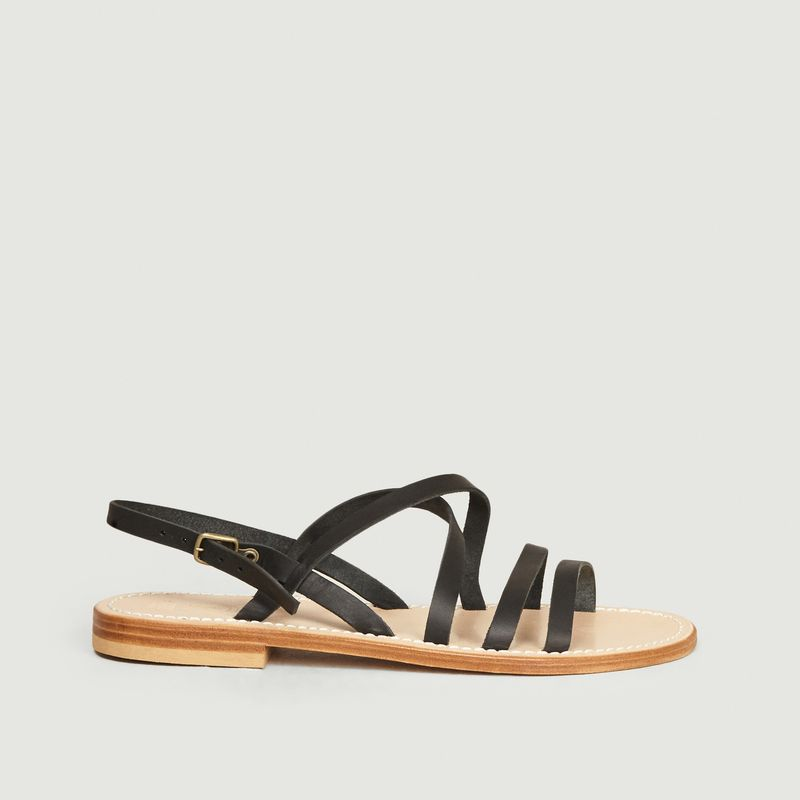 Sandales en cuir de veau Bastille - La Botte Gardiane