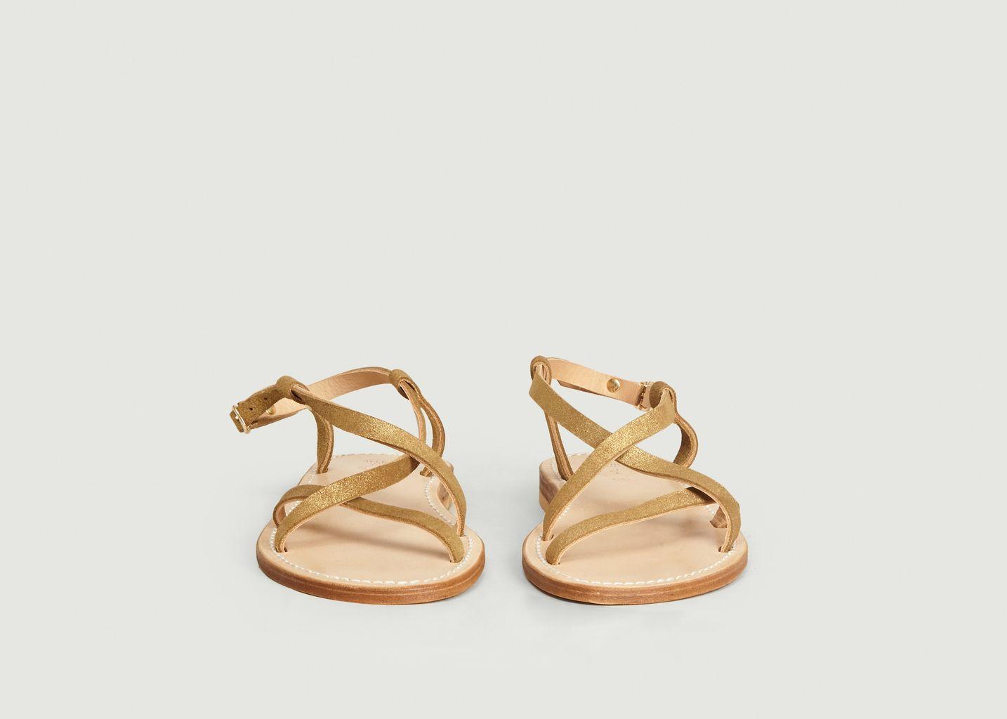 Sandales en cuir de veau irisé Belle Ile - La Botte Gardiane