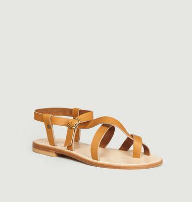 Sandales en cuir de veau Croisette