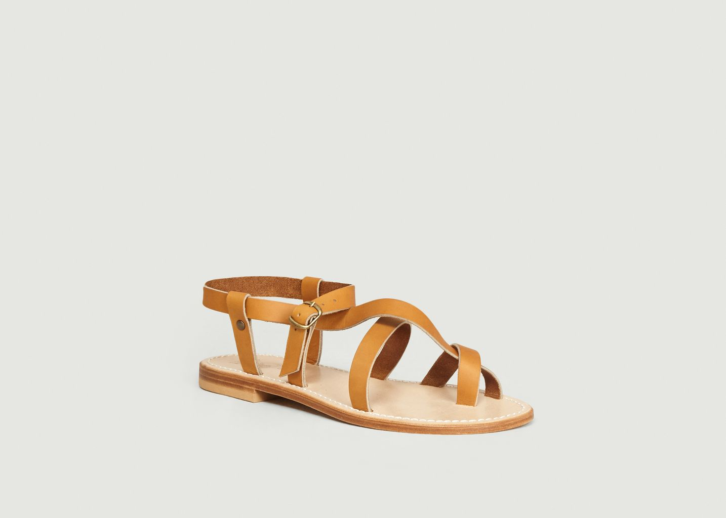 Sandales en cuir de veau Croisette - La Botte Gardiane