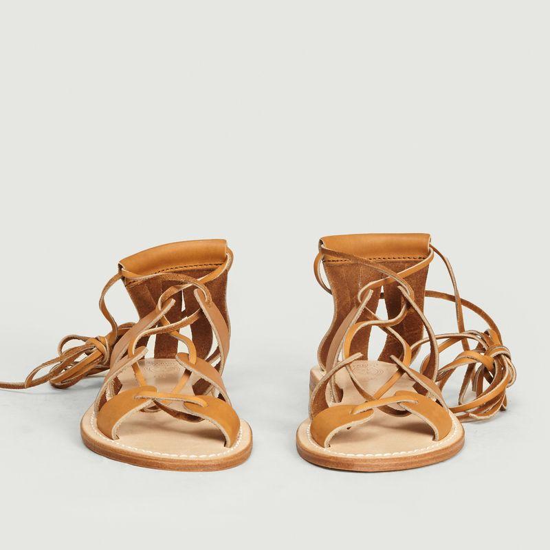 Sandales en cuir de veau Nadège - La Botte Gardiane