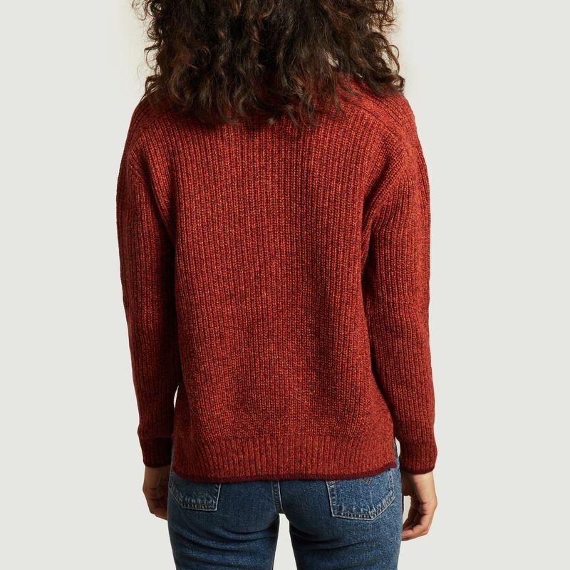 Pull Estafette en laine recyclée  - La mécanique du pull