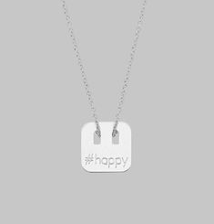 #Happy Necklace