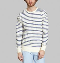 Striped Terry Sweatshirt
