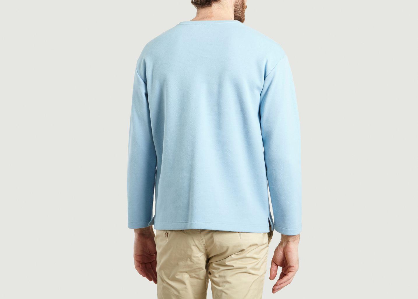 À Sweat L'exception Piqué Coton Soldes Azur La Panoplie 50 Yq4aZ8w