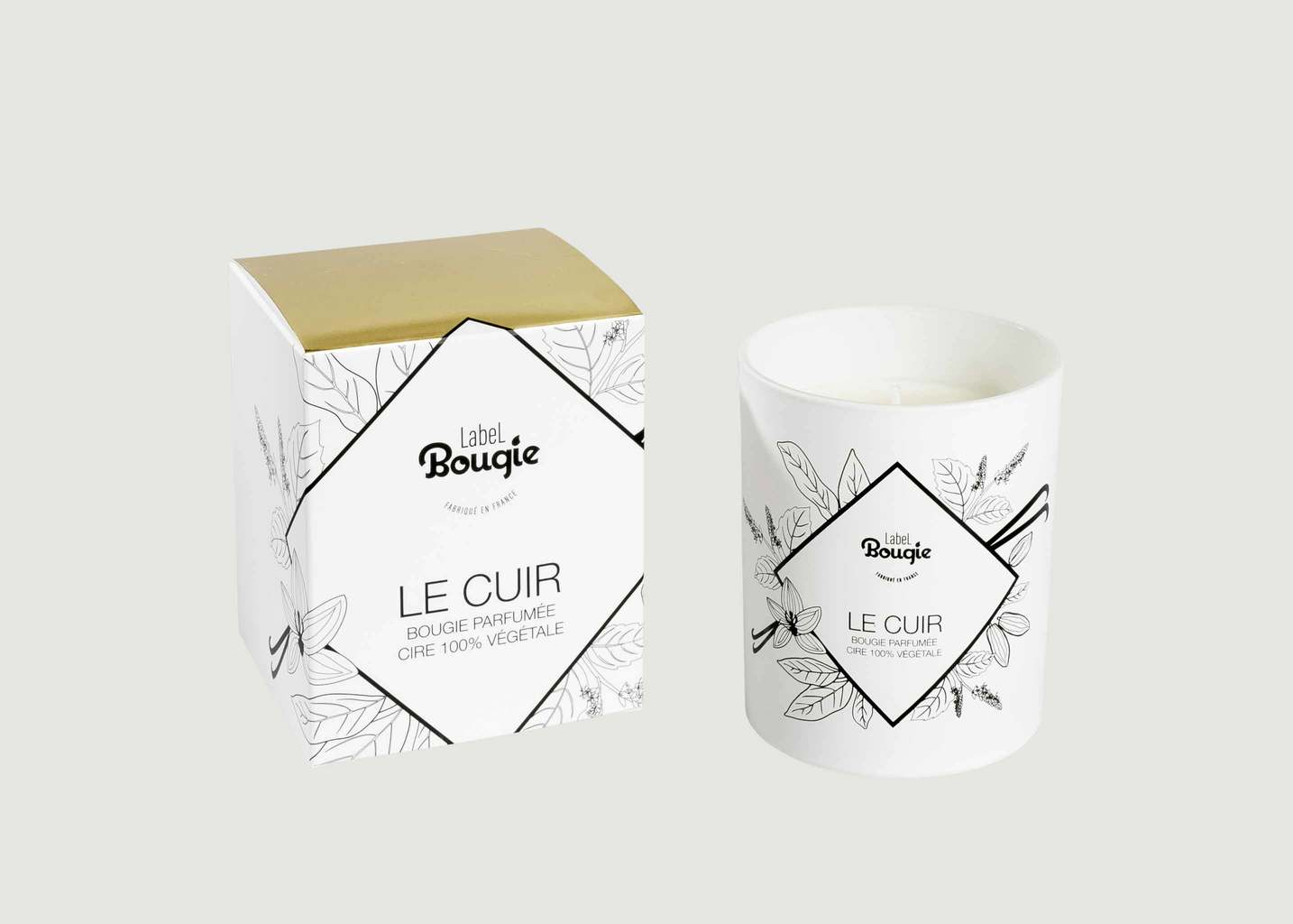 Bougie Bougie Le Cuir 180gr - Label Bougie