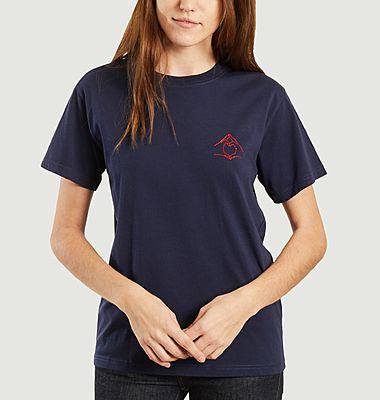 T-shirt brodé signe coeur