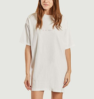 Robe t-shirt en coton bio brodée Overdressed Chalon