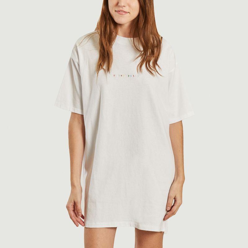 Robe t-shirt en coton bio brodée Overdressed Chalon - Maison Labiche