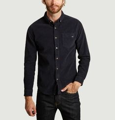 Chemise Velours Straight Brodée Geek