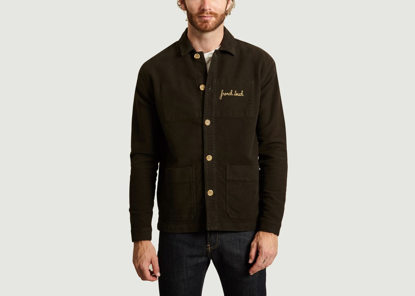 Walker Jacket en Moleskine Brodée - Maison Labiche