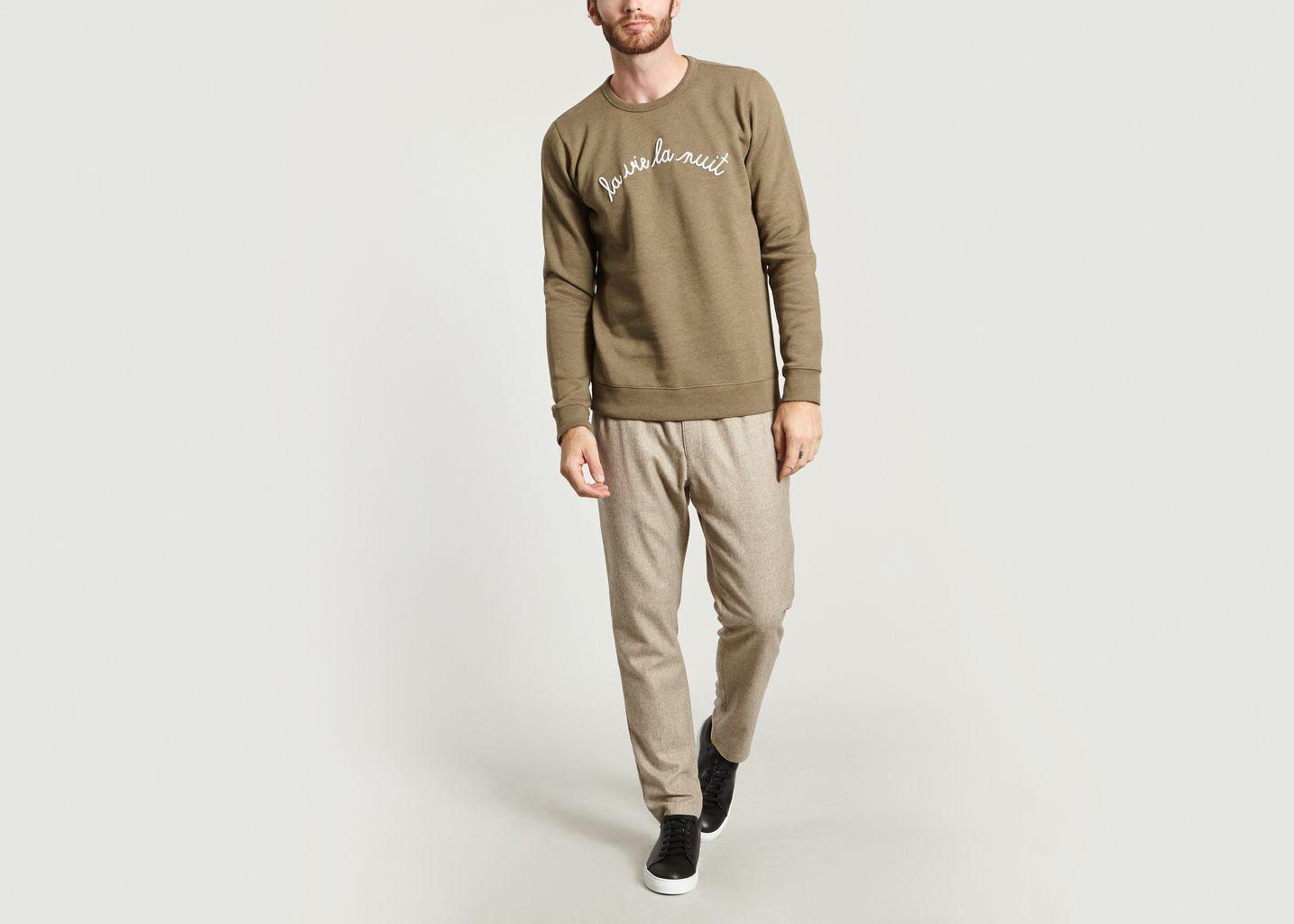 Sweatshirt La Vie La Nuit  - Maison Labiche