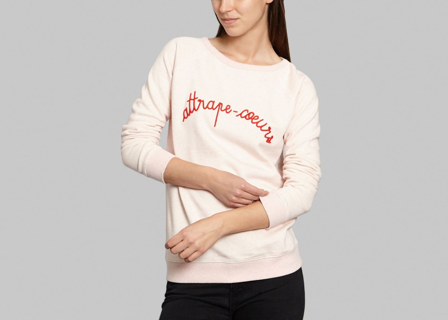 Sweat attrape coeur maison labiche rose p le l 39 exception for Attrape moucheron maison