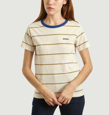 T-Shirt Rayé Brodé Amour
