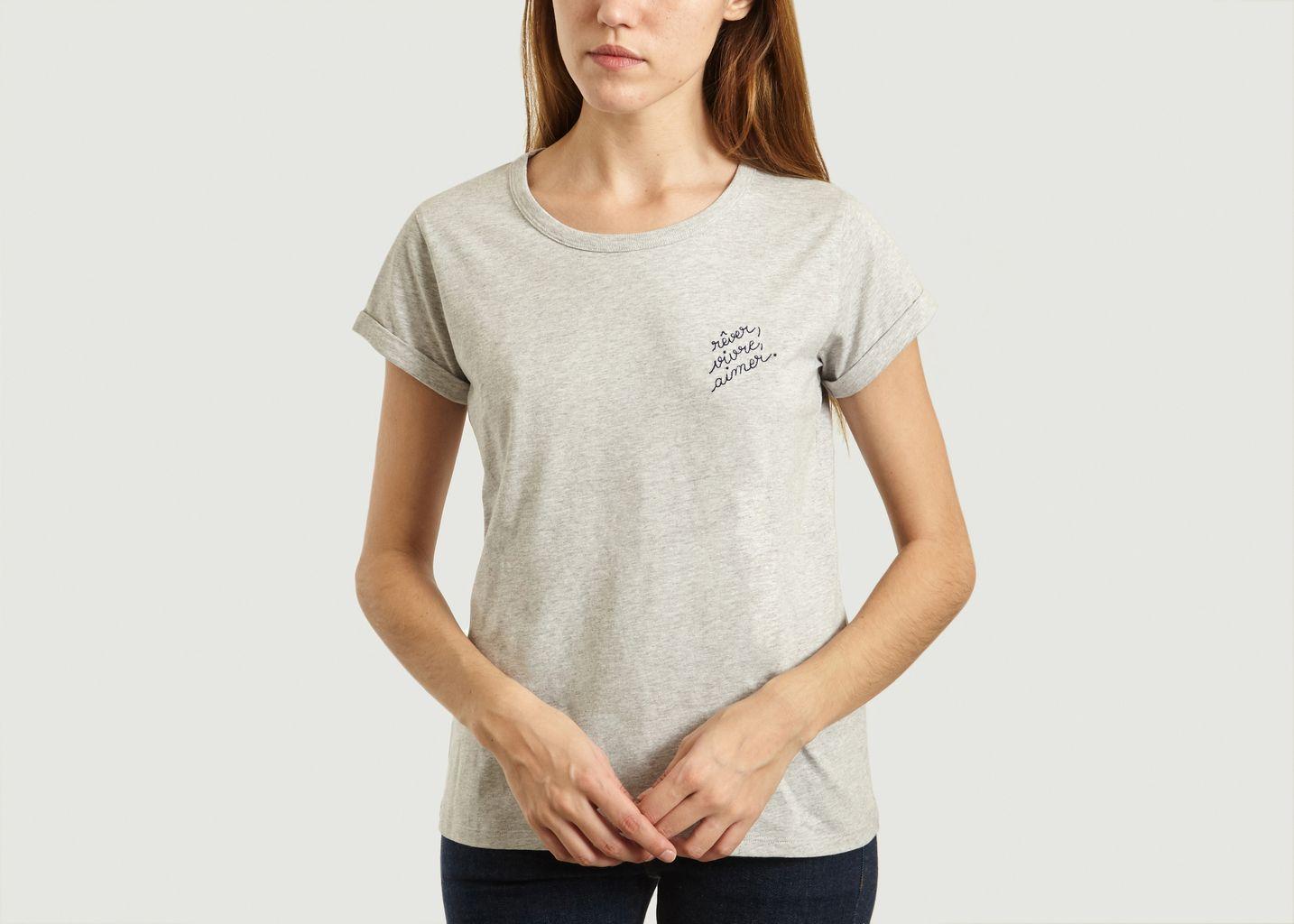 T-Shirt Brodé Rêver Vivre Aimer - Maison Labiche