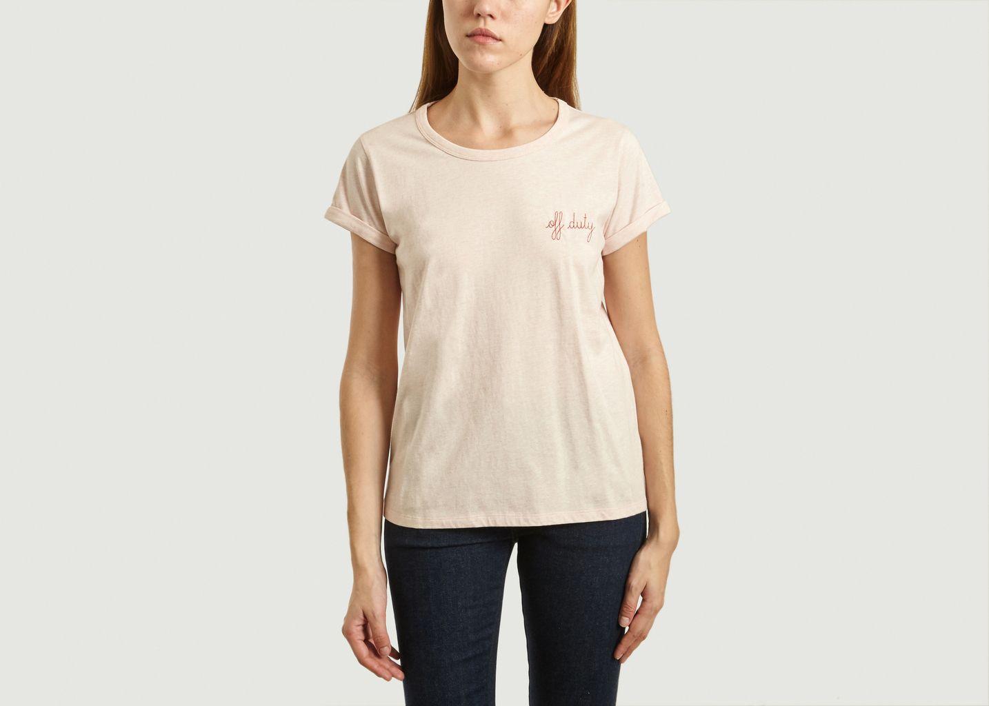 T-Shirt Brodé Off Duty - Maison Labiche