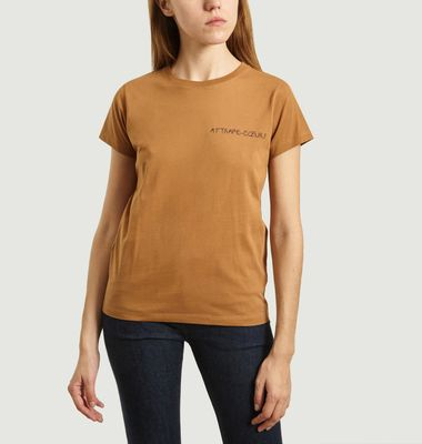 T-Shirt Boyfriend Brodé Attrape-Cœurs