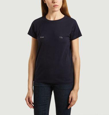 T-Shirt Boyfriend Brodé Love/Life
