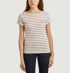 T-Shirt Brodé Marinière Yes