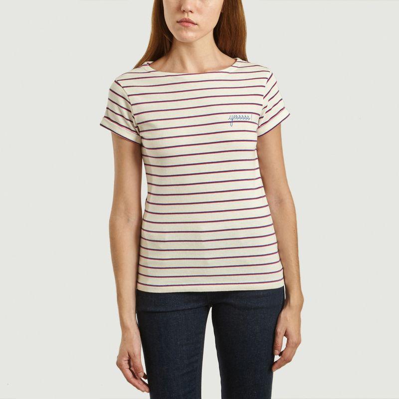 T-Shirt Brodé Marinière Yes - Maison Labiche