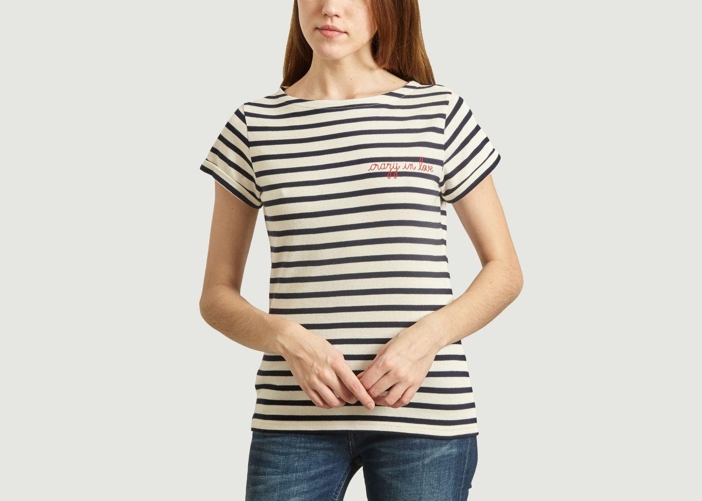 T-Shirt Marinière Brodé Crazy In Love - Maison Labiche