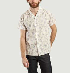 Hawaï Short Sleeves Palm Trees Pattern Shirt