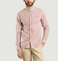 Parisianer Striped Embroidered Shirt