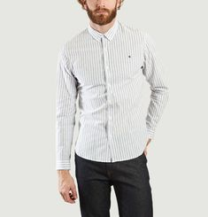 ML Embroidered Striped Shirt