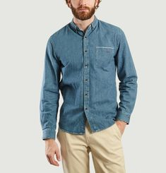 Amour Denim Embroidered Shirt