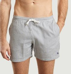 ML Swim Shorts With Seersucker Stripes