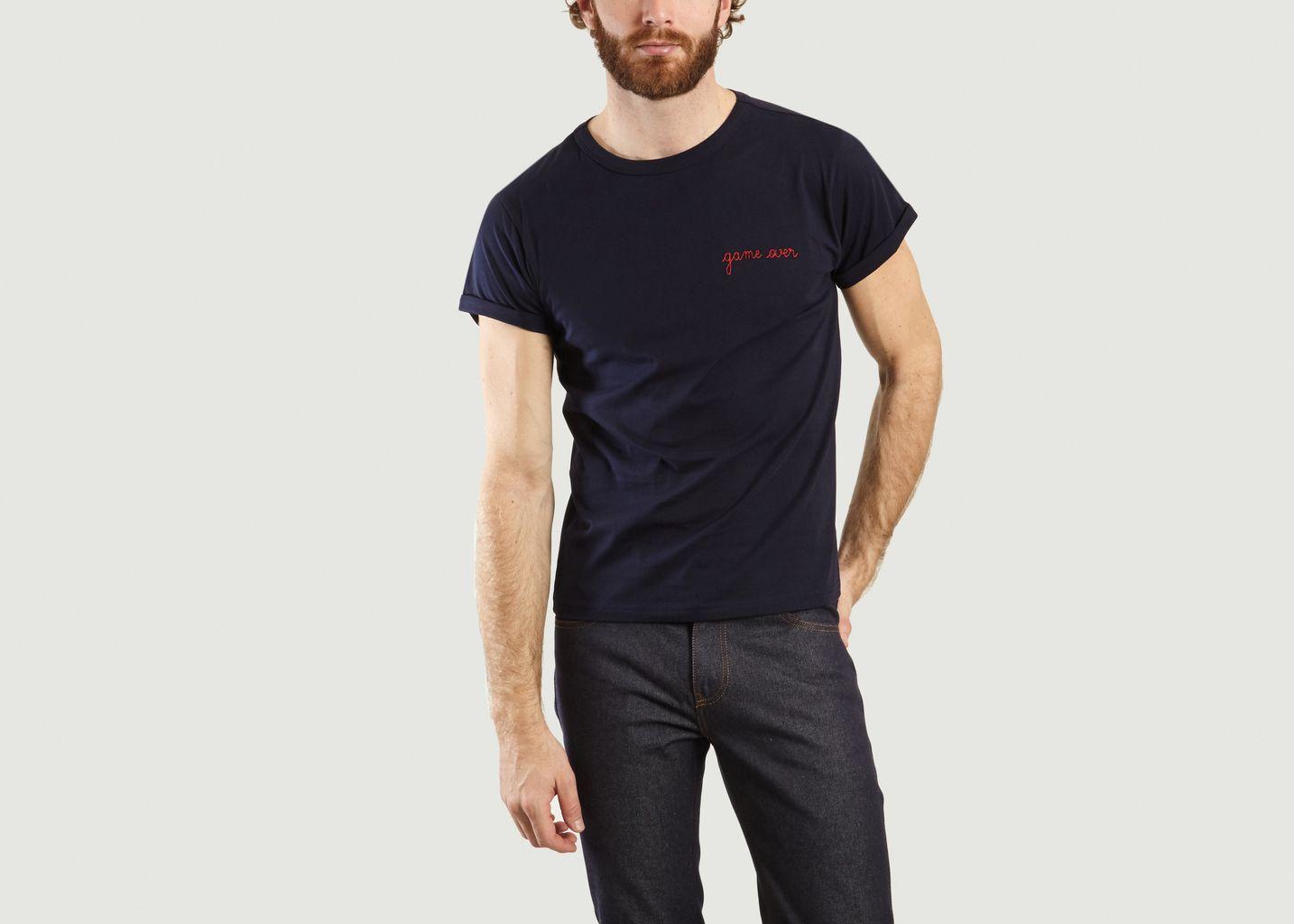 T-Shirt Brodé Game Over - Maison Labiche