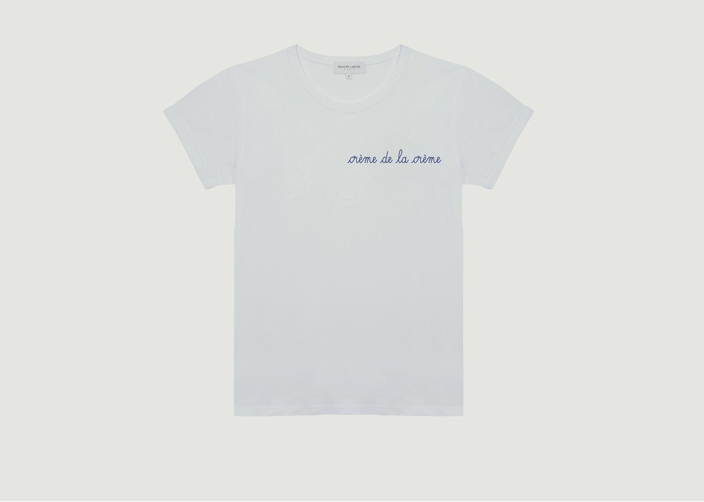 T-Shirt Brodé Crème De La Crème - Maison Labiche