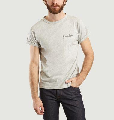 First Class Embroidered T-Shirt