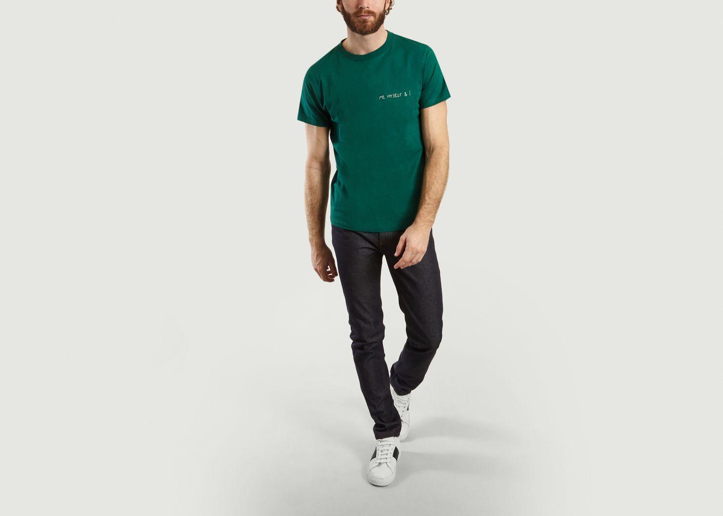 T-Shirt Brodé Me Myself And I - Maison Labiche