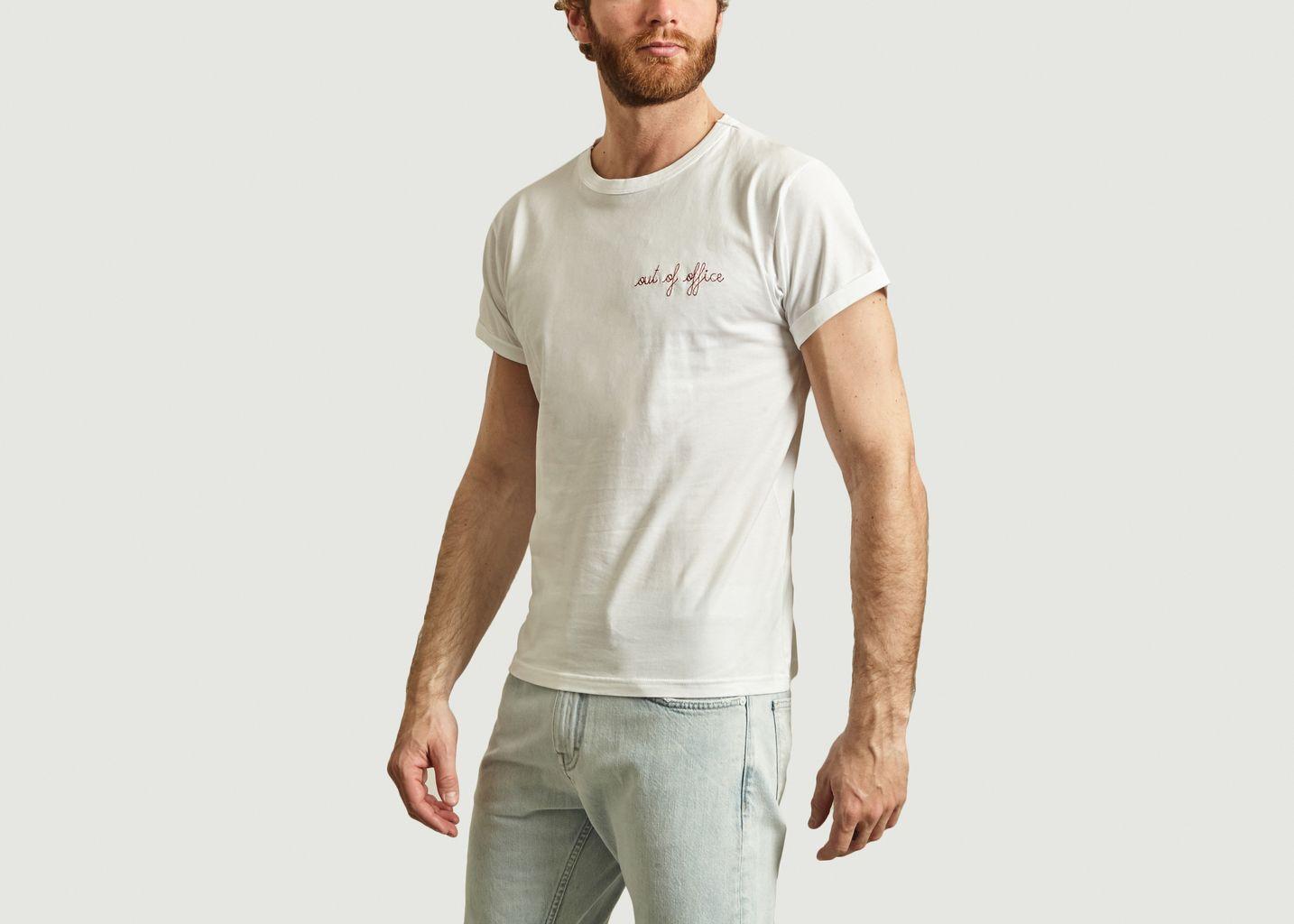 T-Shirt Brodé Out Of Office - Maison Labiche