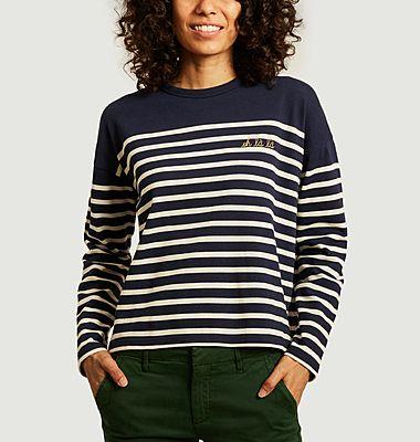 T-shirt marinière manches longues Cool oh là là