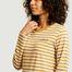matière T-shirt manches longues rayé à lettrage - Maison Labiche