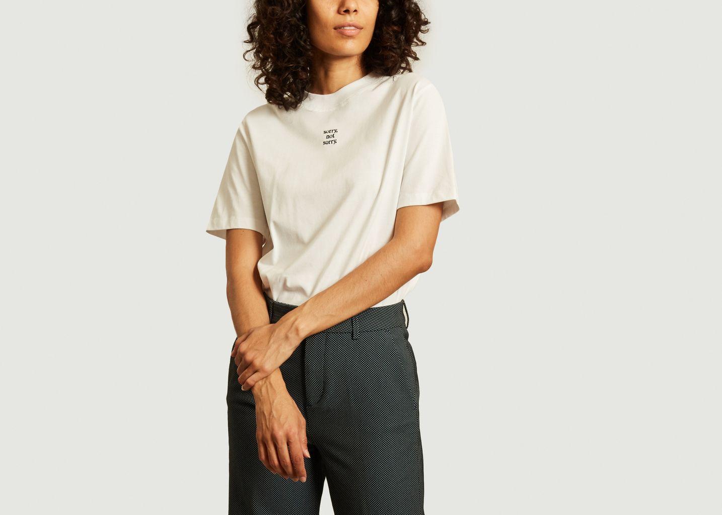 T-shirt oversize imprimé sorry, not sorry - Maison Labiche