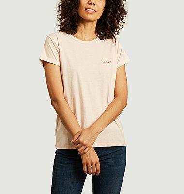 T-shirt en coton bio brodé Amour