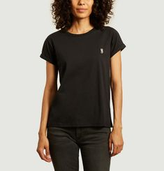 Lovely organic cotton t-shirt with patch