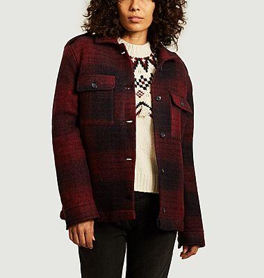 Veste boutonnée en lainage style bûcheron