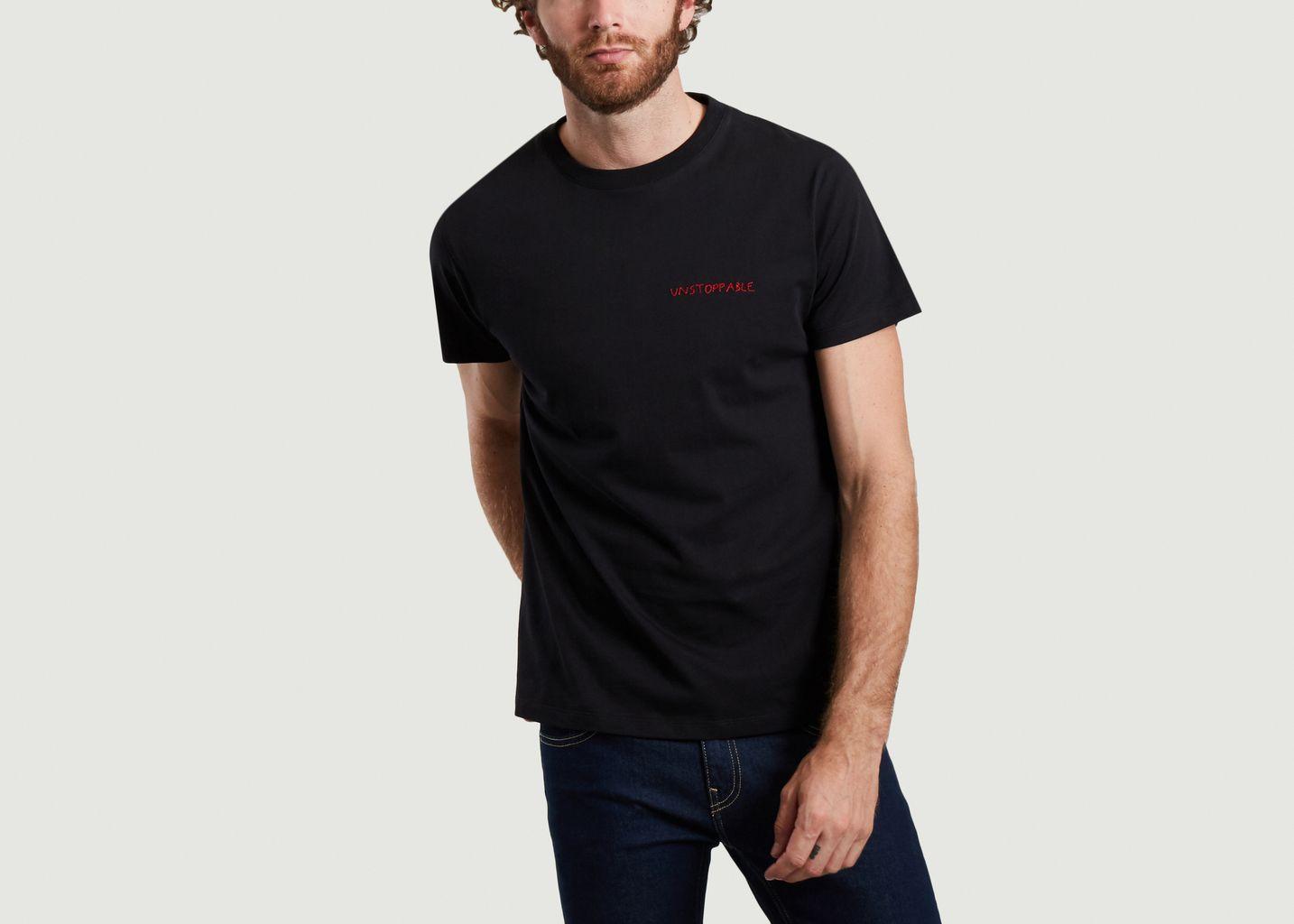 T-shirt brodé en coton bio Unstoppable - Maison Labiche