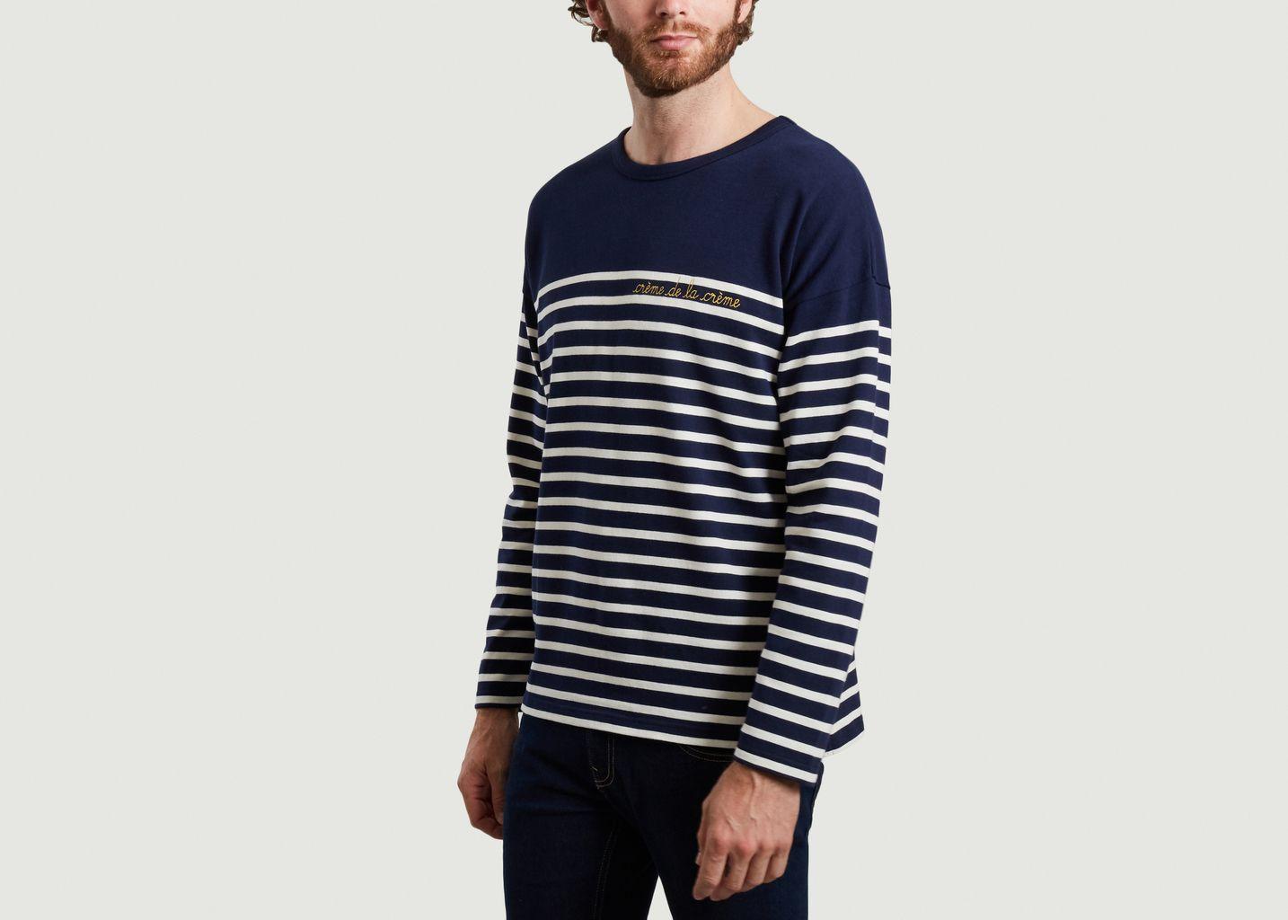 T-shirt manches longues rayé brodé Cool Sailor - Maison Labiche