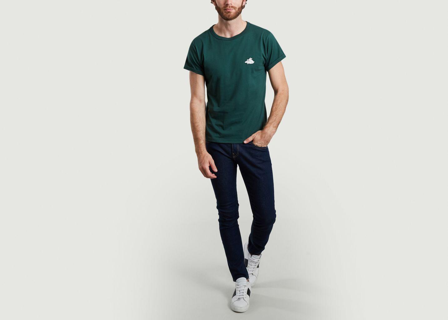 T-shirt brodé en coton bio Bunnies - Maison Labiche